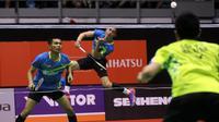 Ganda putra Indonesia, Fajar Alfian/Muhammad Rian Ardianto, mengalahkan Goh V Shem/Tan Wee Kiong, pada final Malaysia Masters 2018, Minggu (21/1/2018). (BWF)