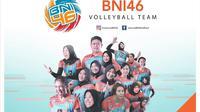 Tim putri Jakarta BNI 46 di Proliga 2020. (foto: https://www.instagram.com/jakartabni46)