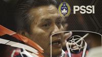 PLT Ketum PSSI, Gusti Randa, memberikan keterangan saat drawing perempat final Piala Presiden 2019 di Ruang Media SUGBK, Jakarta, Selasa (19/3). Pertandingan akan berlangsung pada 29-31 Maret mendatang. (Bola.com/Yoppy Renato)