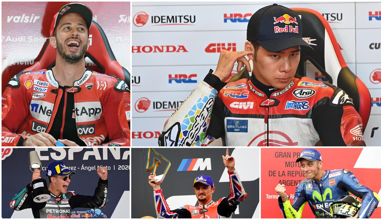 1. Fabio Quartararo (Yamaha SRT) - Pembalap erjulukan El Diablo masih bertengger di puncak klasemen sementara dengan 70 Poin. Quartararo hanya mendulang tiga poin setelah hanya finis di posisi ke-13 balapan MotoGP Styria. (AFP/Javier Soriano)