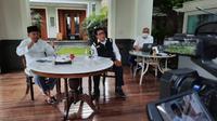 Ketua Umum Dewan Masjid Indonesia Jusuf Kalla meminta pengurus DKM di seluruh Indonesia menyampaikan seruan protokol kesehatan pencegahan COVID-19 saat webinar di kediamannya Jakarta Selatan, Kamis (16/7/2020). (Dok Tim Komunikasi Jusuf Kalla)