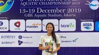 Perenang putri junior Indonesia, Elysha Chloe Pribadi, berhasil menyabet 3 medali emas, 1 perak, dan 2 perunggu, serta memecahkan rekor nasional kelompok umur 2 di Indonesia Open Aquatic Championship 2019, 13-19 Desember 2019. (Istimewa)