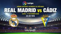 Prediksi Real Madrid vs Cadiz. (Liputan.com/Triyasni)