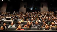 Kuliah umum bedah anatomi 3D cinema ini nampaknya menjadi pertama kali dilakukan di Indonesia. (Foto: Helmi Affandi Abdullah)