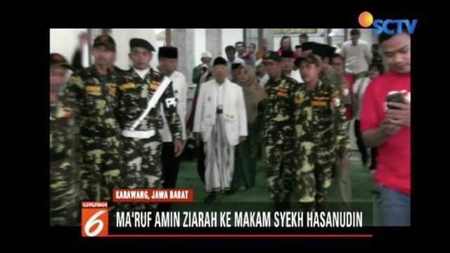 Ma'ruf Amin minta rakyat tak terprovokasi hoaks tiga ibu-ibu yang menyatakan azan hilang bila Jokowi menang.