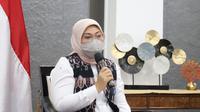 Menaker Ida di Jakarta, pada Virtual Konferensi Pers tentang THR Tahun 2021