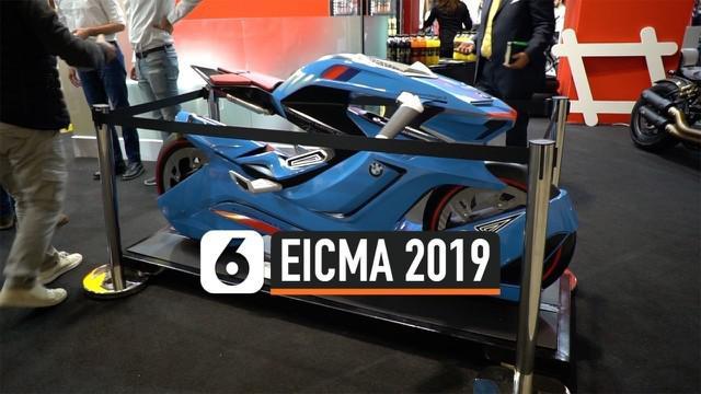 Sejumlah motor model teranyar meluncur di ajang EICMA 2019 Milan Italia. Acara ini juga dimeriahkan kehadiaran para pembalap MotoGP.