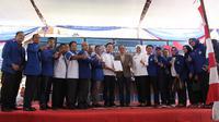 Deklarasi dukungan PAN ke Paslon Harnojoyo-Fitrianti Agustinda maju Pilwako 2018-2023 (Liputan6.com / Nefri Inge)