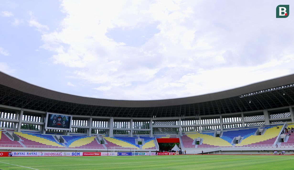 Stadion Manahan Solo yang merupakan salah satu venue Piala Dunia U-20 Tahun 2023 kini digunakan untuk perhelatan Piala Menpora 2021. (Bola.com/M Iqbal Ichsan)