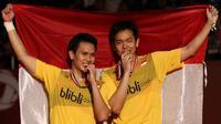 Sebelumnya Mohammad Ahsan / Hendra Setiawan pernah jadi juara dunia pada 2013.