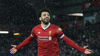 Andai hengkang dari Liverpool, harga jual Mohamed Salah diyakini layak berada di wilayah harga 150 juta poundsterling (Rp 2,9 triliun) (AFP/Lindsey Parnaby)