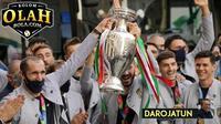 Lautan Manusia Sambut Juara Euro 2020 Timnas Italia di Kota Roma (Foto:AP/Gregorio Borgia)