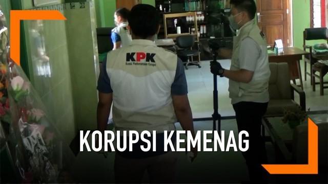 Untuk menelusuri kasus korupsi jual beli jabatan yang melibatkan Romahurmuziy, KPK menggeledah Kantor Kemenag Gresik.