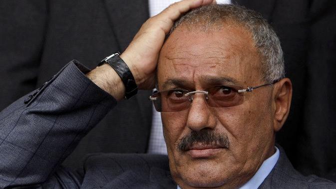 Mantan Presiden Yaman Ali Abdullah Saleh (AP Photo/Muhammed Muheisen, File)
