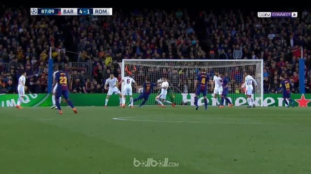 Berita video gol-gol yang tercipta saat Barcelona menang 4-1 atas AS Roma pada leg pertama perempat final Liga Champions 2017-2018. This video presented by BallBall.