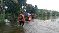 Banjir melanda dua kecamatan di Kabupaten Cilacap, Jawa Tengah. (Foto: Liputan6.com/Basarnas Cilacap)