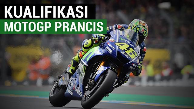 Berita video kualifikasi MotoGP Prancis di mana posisi pertama diduduki oleh Maverick Vinales. Sementara itu, posisi kedua ditempati rekan setimnya di Movistar Yamaha, Valentino Rossi. Pebalapa Repsol Honda, Marc Marquez, berada di posisi start kelim...