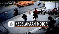 Rekaman detik-detik pemotor menabrak truk saat handle gas tidak sengaja ditarik oleh anaknya. Peristiwa mengerikan ini terjadi di Solok Selatan, Sumatera Barat.