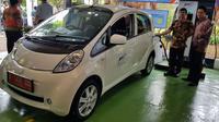 Mitsubishi ambil bagian dalam proses transisi menuju era mobil listrik. (Herdi/Liputan6.com)
