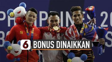 Pemerintah menaikkan bonus SEA Games 2019. Hal ini karena medali yang diperoleh melampaui target.