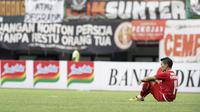 Ribuan The Jakmania saat menyaksikan laga Persija Jakarta versus Bhayangkara FC di Stadion Patriot Candrabhaga, Bekasi, Sabtu (10/8/2019).  (Bola.com/Yoppy Renato)