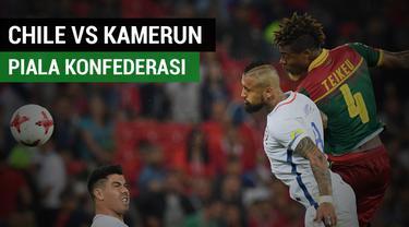 Chile menang 2-0 atas Kamerun dalam lanjutan Piala Konfederasi Grup B.