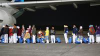 Sebanyak 357 jamaah telah dilepas menuju Madinah melalui Bandara Adi Soemarmo menggunakan maskapai Garuda Indonesia.