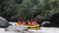 Arung jeram Papualangi Hil yang saat ini menjadi tujuan wisatawan lokal maupun mancanegara. (Liputan6.com/Arfandi Ibrahim)