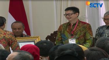 Wakil Presiden Jusuf Kalla menghadiri peringatan Hari Kekayaan Intelektual Sedunia ke 18, di Istana Wakil Presiden Jakarta Pusat.