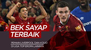 Berita motion grafis 5 duo bek sayap rerbaik di liga top Eropa, di antaranya pemain Liverpool dan Juventus.