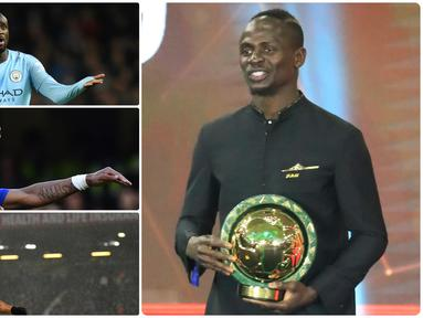 Pemain bintang asal Liverpool, Sadio Mane, dinobatkan sebagai pemain terbaik sejagat Benua Afrika. Mane mengungguli Mohamed Salah dan Riyad Mahrez dalam penghargaan Pemain Terbaik Afrika 2019. Berikut deretan pemain terbaik dari Benua Afrika dari masa ke masa. (Kolase foto AFP)