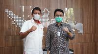 Wamendag Jerry Sambuaga bertemu dengan Sekjen Komite Olahraga Nasional Indonesia (KONI) Ade Lukman (dok: humas)
