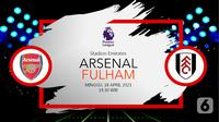 Arsenal vs Fulham (liputan6.com/Abdillah)