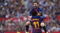 Lionel Messi juga sukses meraih lima kali gelar El Pichichi. Raihan tersebut unggul dua kali bila dibandingkan dengan milik Cristiano Ronaldo (AFP/Jorge Guerrero)