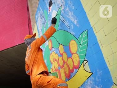 Terowongan Cawang dengan Mural Kemerdekaan RI