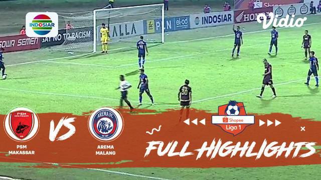 Berita video gol-gol yang tercipta pada pertandingan Shopee Liga 1 2019 antara PSM Makassar melawan Arema FC di Stadion Andi Mattalatta, Mattoangin, Rabu (16/10/2019).