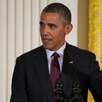 Presiden AS Barack Obama saat pembukaan acara buka puasa bersama di Gedung Putih (seattlepi.com)