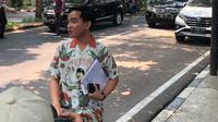 Putra Jokowi, Gibran Rakabuming Raka saat tiba di rumah Megawati Soekarnoputri, Kamis (24/10/2019). (Liputan6.com/Putu Merta Surya Putra)