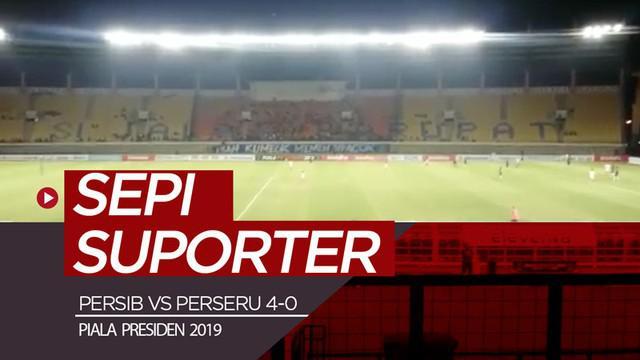 Berita video pesta gol Persib Bandung saat menghadapi Perseru Serui pada laga terakhir di Grup A Piala Presiden 2019 di Stadion Si Jalak Harupat tidak banyak ditonton suporter, Selasa (12/3/2019).