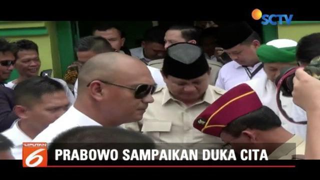 Prabowo Subianto menyampaikan duka mendalam atas musibah pesawat Lion Air JT 610.