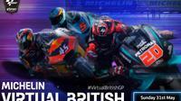 Balapan virtual MotoGP seri kelima berlangsung di Silverstone. (MotoGP)