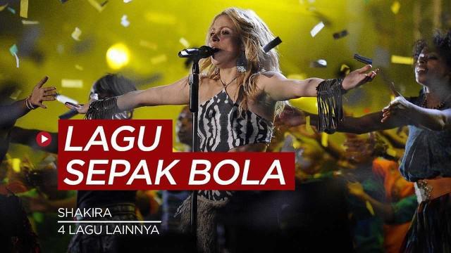 Berita video sportbites kali ini akan membahas tentang 5 lagu sepakbola paling populer di dunias, salah satunya lagu milik Shakira.