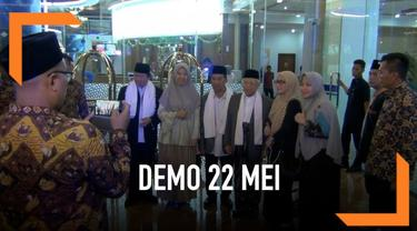 Cawapres no urut 01, Ma'ruf Amin meminta massa aksi demo 22 Mei untuk selalu waspada, Apalagi terhembus isu akan adanya teroris yang akan menyusup pada massa aksi.