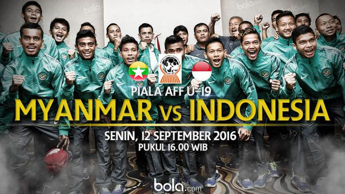 Starting Lineup Timnas Indonesia U19 Kontra Myanmar  Indonesia Bola.com