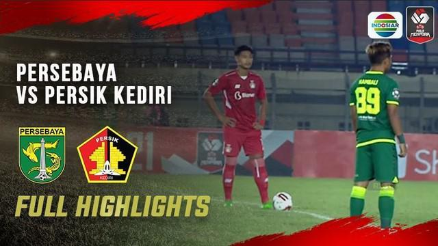 Berita video highlights laga Grup C Piala Menpora 2021 antara Persebaya Surabaya melawan Persik Kediri yang berakhir dengan skor 2-1, Selasa (23/3/2021) malam hari WIB.