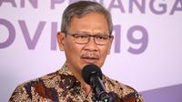 Juru Bicara Pemerintah untuk Penanganan COVID-19 Achmad Yurianto saat konferensi pers Corona di Graha BNPB, Jakarta, Rabu (1/7/2020). (Dok Badan Nasional Penanggulangan Bencana/Fotografer Dume Harjuti Sinaga)