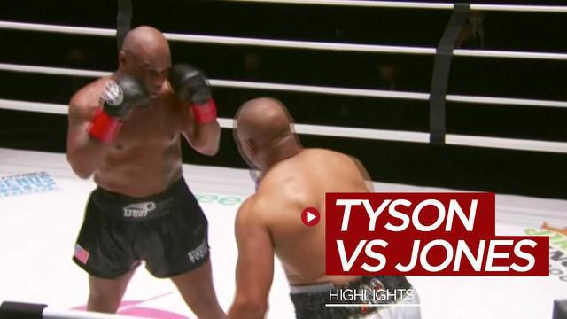 Berita video highlights pertarungan tinju eksebisi antara Mike Tyson melawan Roy Jones Jr. yang berakhir dengan hasil imbang, Minggu (29/11/2020) siang hari WIB.