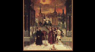 Astronom Mempelajari Gerhana yang dilukis oleh Antoine Caron pada tahun 1571 (Wikipedia/Public Domain)