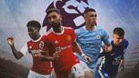 Premier League - Bukayo Saka, Bruno Fernandes, Phil Foden, Mason Mount (Bola.com/Adreanus Titus)