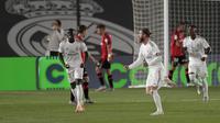 Sergio Ramos mencetak gol lewat tendangan bebas saat Real Madrid melawan Mallorca (AP)